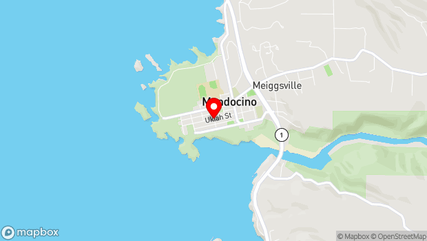 Google Map of 45101 Ukiah Street, Mendocino, CA 95460