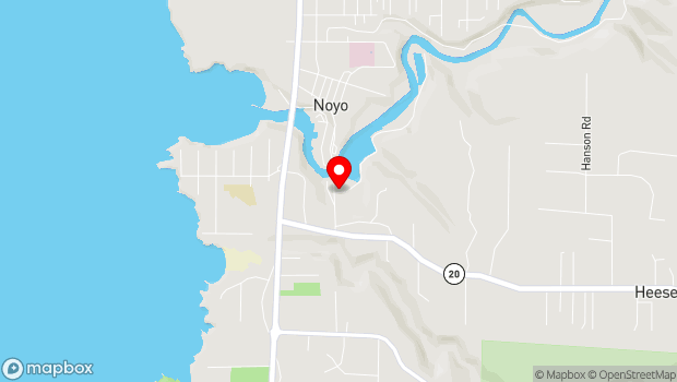 Google Map of South Noyo Harbor Drive, Fort Bragg, CA 95437