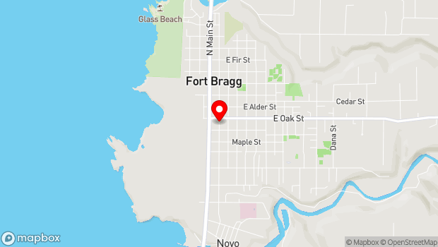 Google Map of 135 S. Franklin St., Fort Bragg, CA 95437