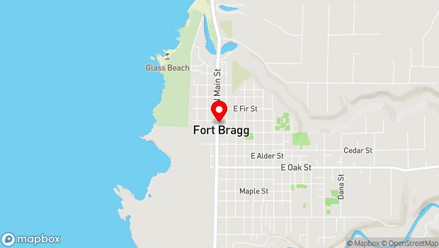 Google Map of 444 N. Main Street, Fort Bragg, CA 95437