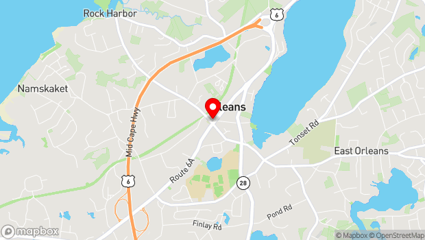 Google Map of 34 Main Street, Orleans, MA 02653