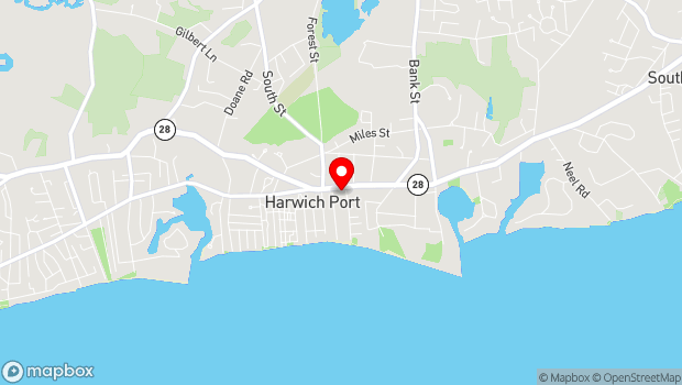 Google Map of 533 Route 28, Harwich Port, MA 02646
