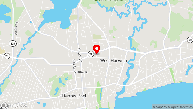 Google Map of 105 Division Street, West Harwich, MA 02671
