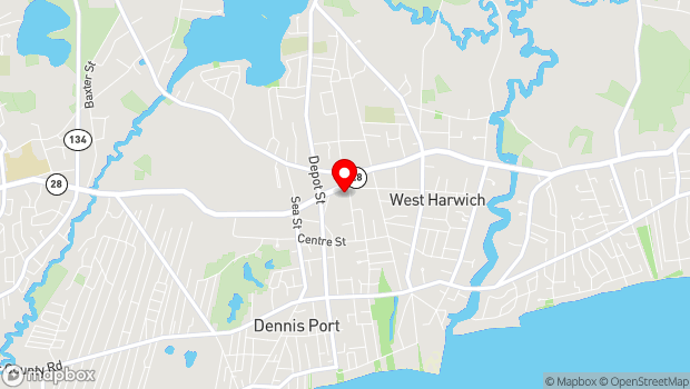 Google Map of 5 Hall St, Dennis, MA 02639