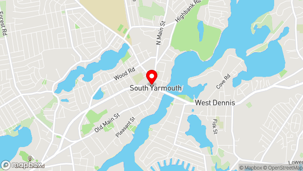 Google Map of 1338 Route 28, South Yarmouth, MA 02664