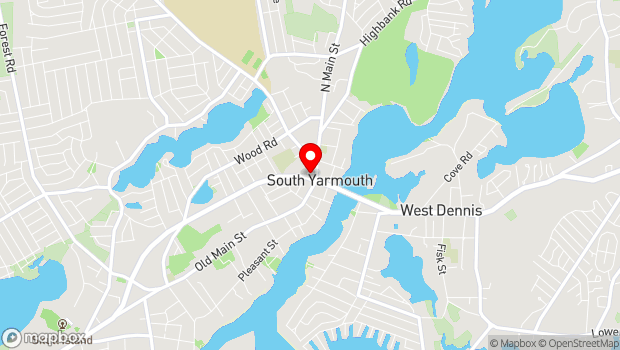 Google Map of 1338 Route 28 , South Yarmouth, MA 02664