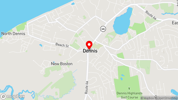 Google Map of 713 Main Street (Route 6A), Dennis, MA 02638