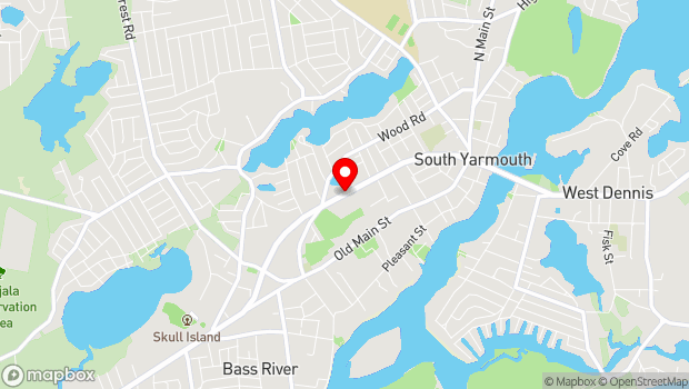 Google Map of 1175 Route 28, South Yarmouth, MA 02664