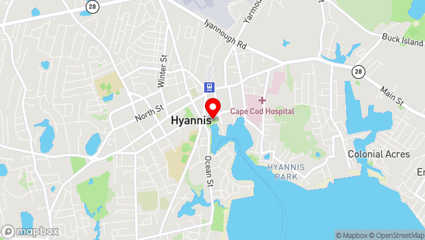 Google Map of 135 South Street, Hyannis, MA 02601