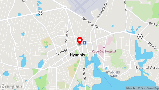 Google Map of 320 Main Street, Hyannis, MA 02601