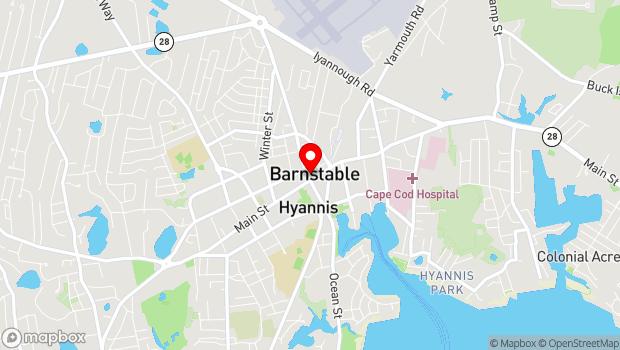 Google Map of 302 Main Street, Hyannis, MA 02601