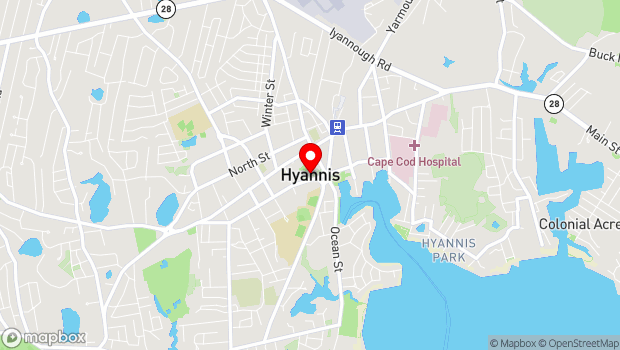 Google Map of 367 Main St, Hyannis, MA 02601