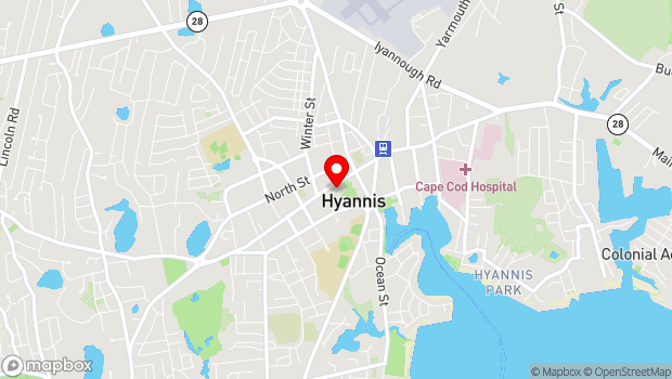 Google Map of 397 Main Street, Hyannis, MA 02601