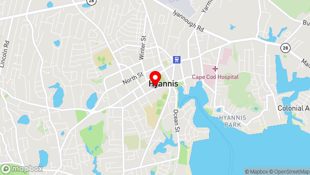 Google Map of 50 Pearl Street, Hyannis, MA 02601