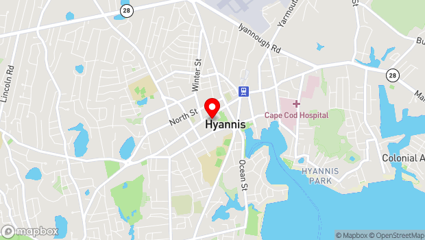 Google Map of 401 Main Street, Hyannis, MA 02601