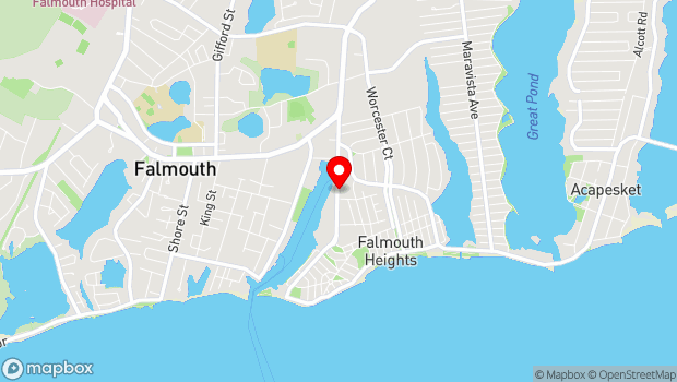 Google Map of 58 Highfield Drive, Falmouth, MA 02540