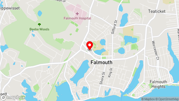 Google Map of 68 Main St, Falmouth, MA 02540