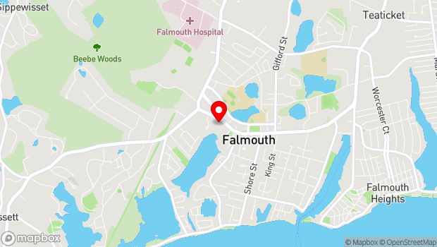 Google Map of 91 West Main Street, Falmouth, MA 02540
