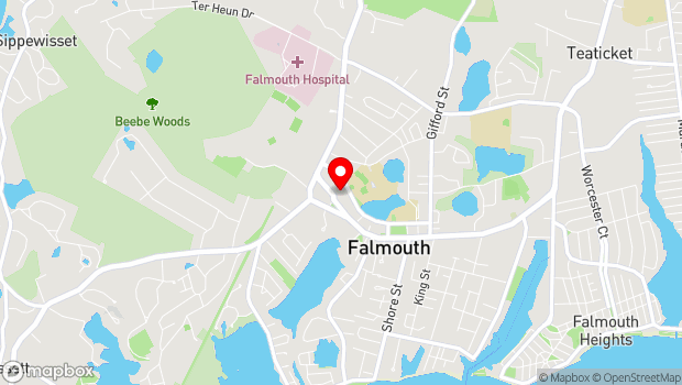 Google Map of 55 Palmer Ave, Falmouth, MA 02540