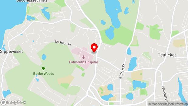 Google Map of 100 Terrace Heun Dr., Falmouth, MA 02536