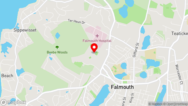 Google Map of 7 Highfield Drive, Falmouth, MA 02540