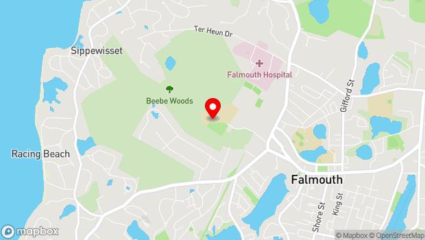 Google Map of 60 Highfield Drive, Falmouth, MA 02540