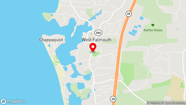 Google Map of 575 W Falmouth Hwy, West Falmouth, MA 02574
