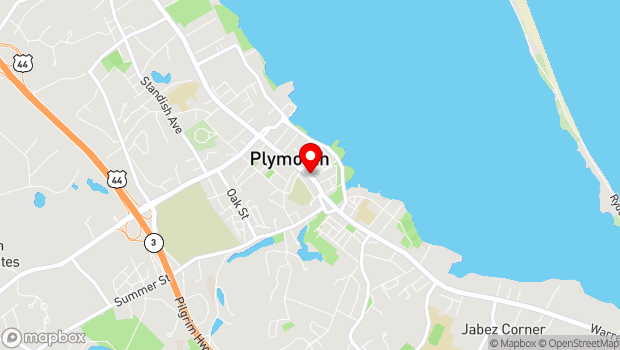 Google Map of 25 1/2 Court St. , Plymouth, MA 02360