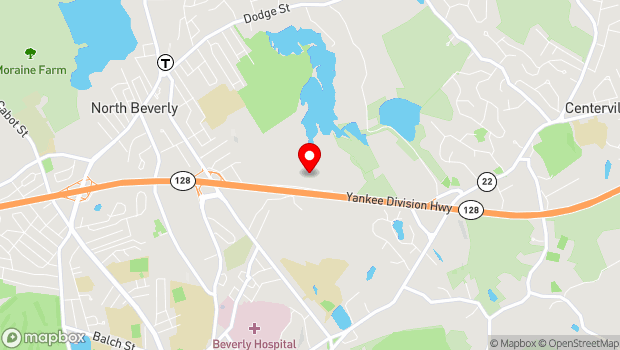 Google Map of 62 Dunham Rd, Beverly, MA 01915