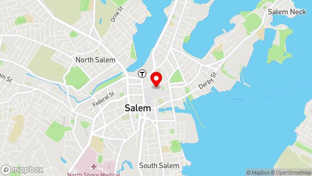 Google Map of East India Square, 161 Essex Street, Salem, MA 01970