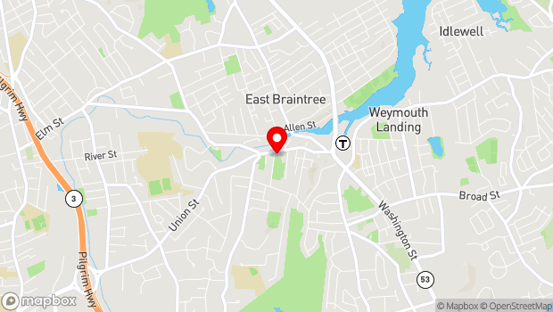 Google Map of 182 Commercial Street, Braintree, MA 02184