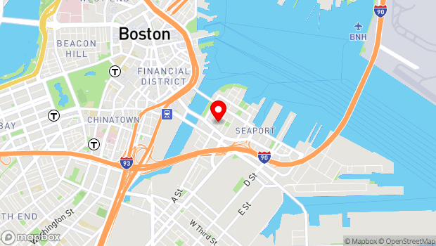 Google Map of 22 Thomson Place, Boston, MA 02210