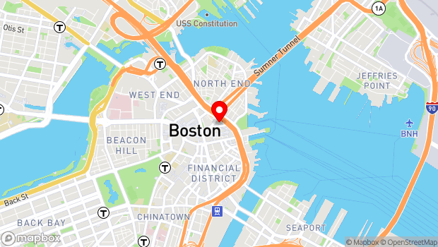 Google Map of 22-24 Clinton Street, Boston, MA 02109