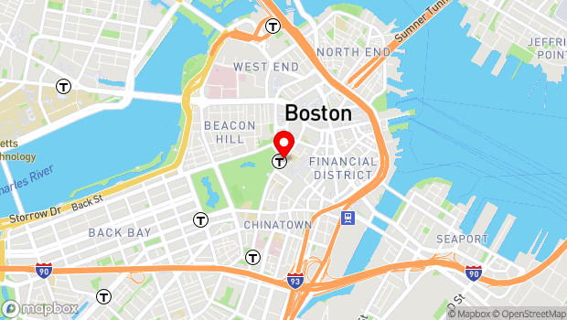 Google Map of Tremont and Park Street, Boston, MA 02111