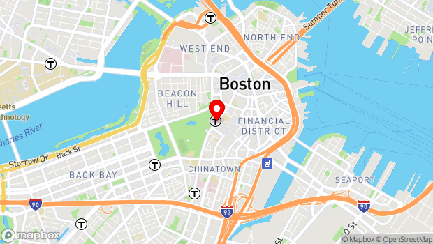 Google Map of Tremont Street & Winter Street, Boston, MA 02108