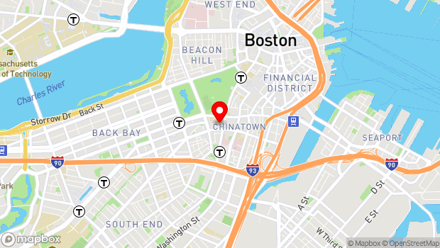 Google Map of 219 Tremont Street, Boston, MA 02116