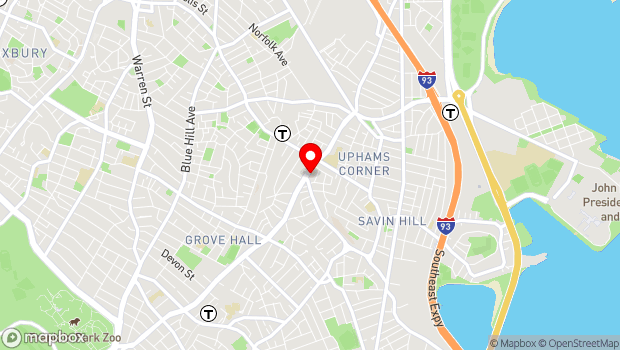 Google Map of 543 Columbia Road, Boston, MA 02125
