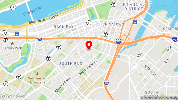Google Map of 527 Tremont Street, Boston, MA 02116