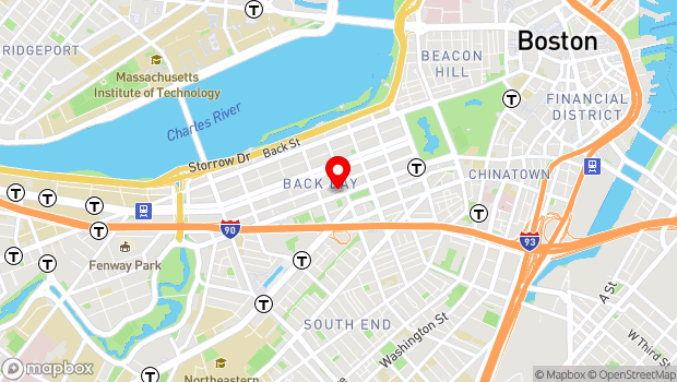 Google Map of 645 Boylston Street, Boston, MA 02116
