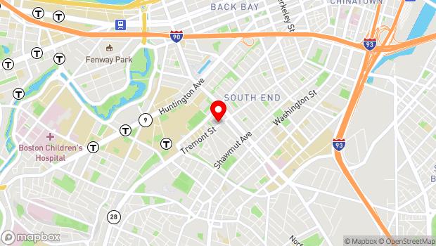 Google Map of 793 Tremont Street, Boston, MA 02118