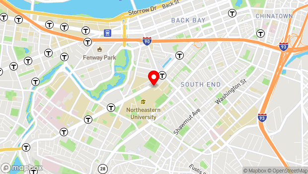 Google Map of 30 Gainsborough Street, Boston, MA 02115