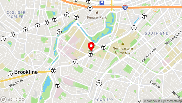 Google Map of 621 Huntington Ave, Boston, MA 02115