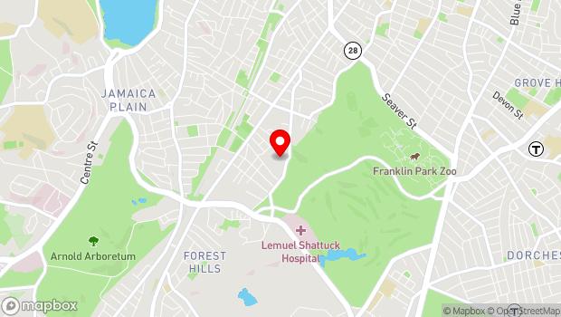 Google Map of 215 Forest Hills Street , Boston (Jamaica Plain), MA 02130