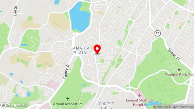 Google Map of 20 South Street, Boston, MA 02130