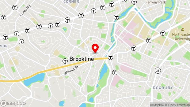 Google Map of 32 Station Street , Brookline, MA 02445