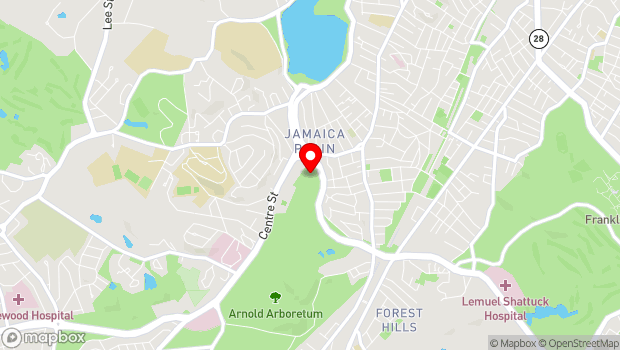 Google Map of 125 Arborway, Boston, MA 02130