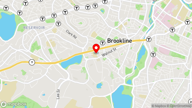 Google Map of 25 Kennard Rd., Brookline, MA 02445