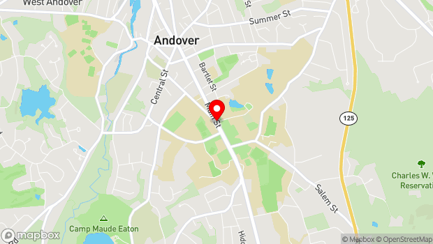 Google Map of 3 Chapel Avenue, Andover, MA 01810