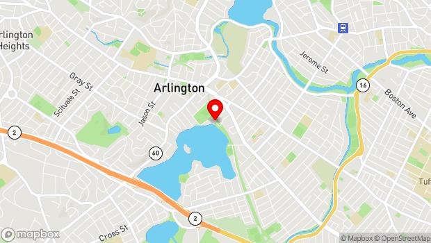 Google Map of off Pond Lane, Arlington, MA 02474