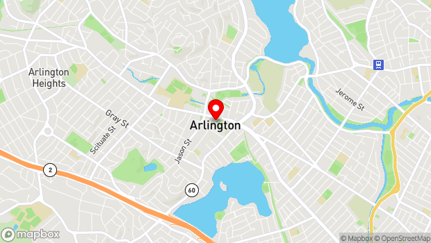 Google Map of 730 Massachusetts Avenue, Arlington, MA 02476